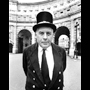 Rod Williams Photography. Black and white photograph of London, 1968. Admiralty Arch 'Custodian'